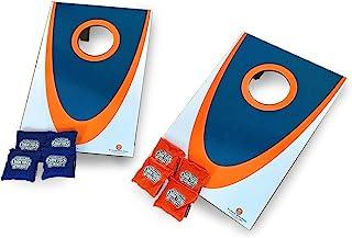 Driveway Games Junior Cornhole Set. Mini Tabletop Corn Toss Boards & Bean Bags for Camping, Travel & Indoors