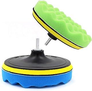 """Yosoo 7 stuks 5/6/7""""spons polijsten waxing pads kit set compound auto polijstmachine + M14 boor adapter kit (7"""")"""