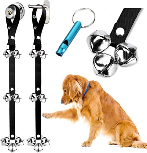 BLUETREE 2 Pack Dog Doorbells Premium Quality Training Potty Great Dog Bells Adjustable Door Bell Dog Bells for Potty...