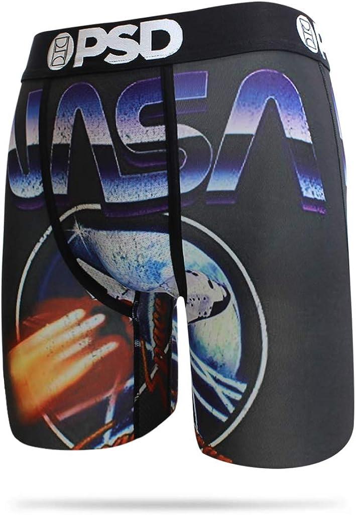 PSD Underwear Men's Stretch Long-Length Boxer Brief, NASA