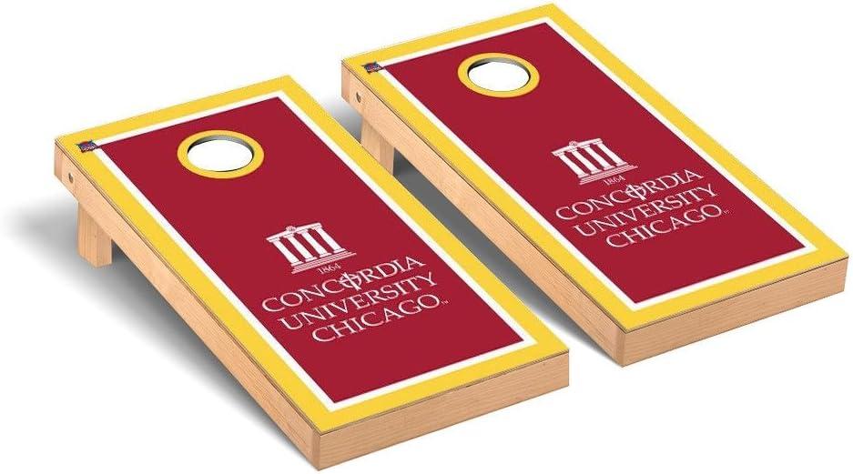Victory Baltimore Mall Tailgate NCAA overseas Cornhole Game Set Team: Chi Concordia