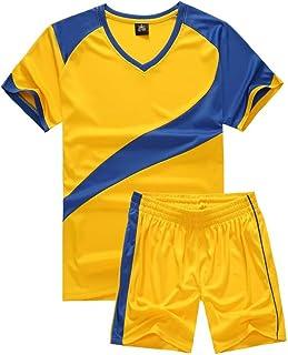 yingfeg bb Soccer Uniforms for Men Sports Jersey and Shorts Set Short Sleeve Shirts