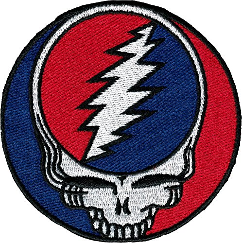 Grateful Dead Steal Your Face 3 1/2 Inch Music Embroidered Iron On Patch 1264 by C&D