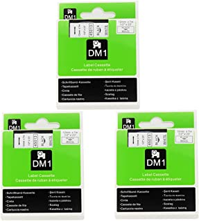 Replace Dymo D1 Labels Tape 45013 S0720530,1/2 Inch(12mm) W x 23 Feet(7m) L,Black on White,Labeling Tape Compatible for DYMO LabelManager PnP 260P 210D 280 420 160 450D Label Maker, 3 Pack