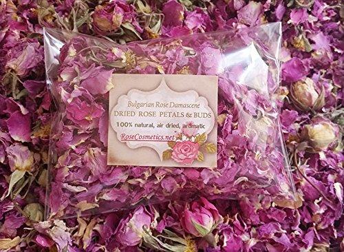 Pétalos de rosa 100% natural, rosa de Bulgaria, flores secas aromáticas, 10g