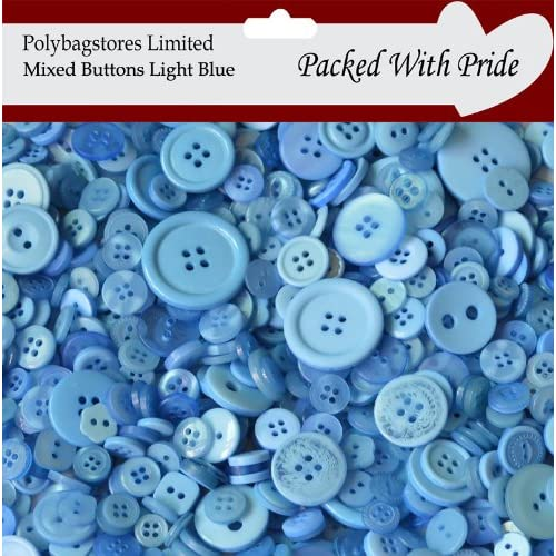 100g Quality White Mixed Selection Assorted Buttons Scrapbooking Card Making