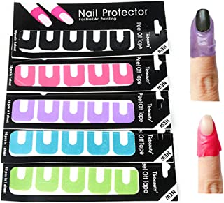 Peel Off Nail Art Tips Tape Palisade Cuticle Sticker Polish Hedge Base Coat,Purple by Team-Management