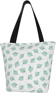 Einkaufstaschen, Wirbelnde Blätter, dunkelgrün, Segeltuch, Einkaufstasche, wiederverwendbar, faltbar, Reisetasche, groß und langlebig, robuste Einkaufstaschen