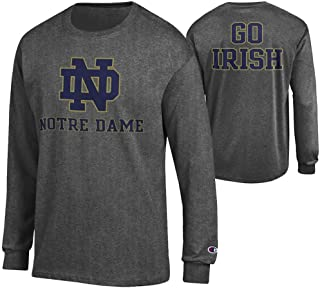 Elite Fan Shop NCAA Men's Front/Back Dark Heather Long Sleeve Tshirt