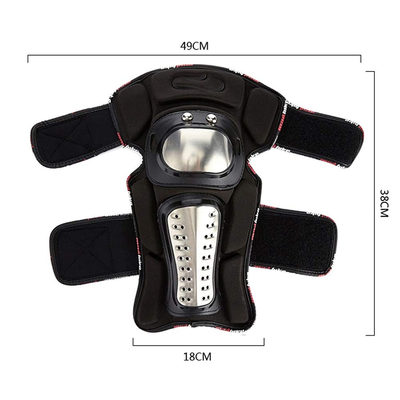 ETH オフロードマウンテンステンレス鋼機関車オフロードオートバイ防護服膝肩エルボー4ピーススーツナイト機器 ユニーク (UnitCount : Knee pads Elbow pads)
