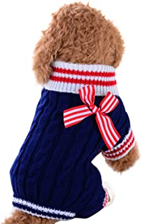 WEUIE Pet Dog Sweater Dog Clothes Small Dogs Winter Sweaters Rompers LZP18061801804