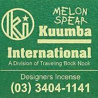 KUUMBA/クンバ『incense』(MELON SPEAR メロンスピアー)(Regular size レギュラーサイズ)
