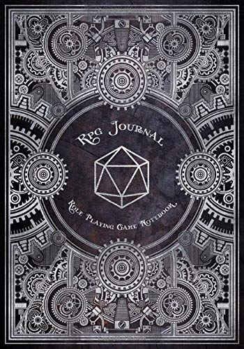 RPG Journal Mixed Paper: Ruled, Graph, Hexagon and Dot Grid | Role Playing Game Companion Silver Steampunk (Steampunk RPG Game Series)