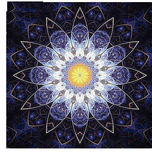 AMDPH 5D DIY Diamant Malerei Bohren Voll Runde Strass Stickerei Kreuzstich Blume Mandela Kunst Mosaik Wand Home Room Decor Geschenk Wandbild Unvollendet,40x40cm