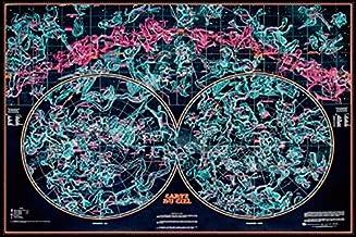 Murale Constellation Carte 1 Pi/èce Taille Unique Constellation C/éleste Carte Poster Art Mural pour Maison Chambre Salon Dortoir Brille dans Le Noir MOOUK Star Carte