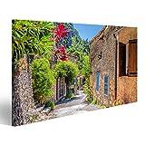 Bild Bilder auf Leinwand Dorf Moustiers Sainte Marie mit