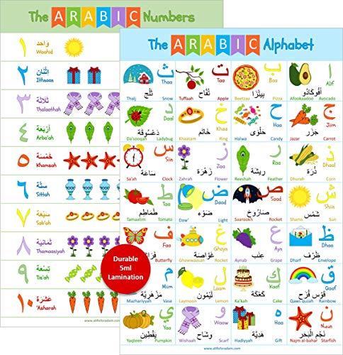 Laminated Arabic Alphabet Poster