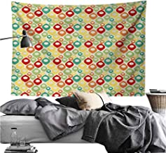 dsdsgog Classical Tapestry Abstract,Colorful Geometrical Shapes Modern Art Expressionism Inspired Ornamental Motifs,Multicolor,W60 xL50 Retro Style