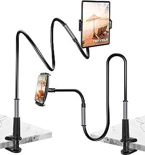 Tsryrlr Gooseneck Tablet Holder/Cell Phone Holder, Universal Tablet Stand,360 Flexible Arm Lazy Clamp Mount Bracket Compat...