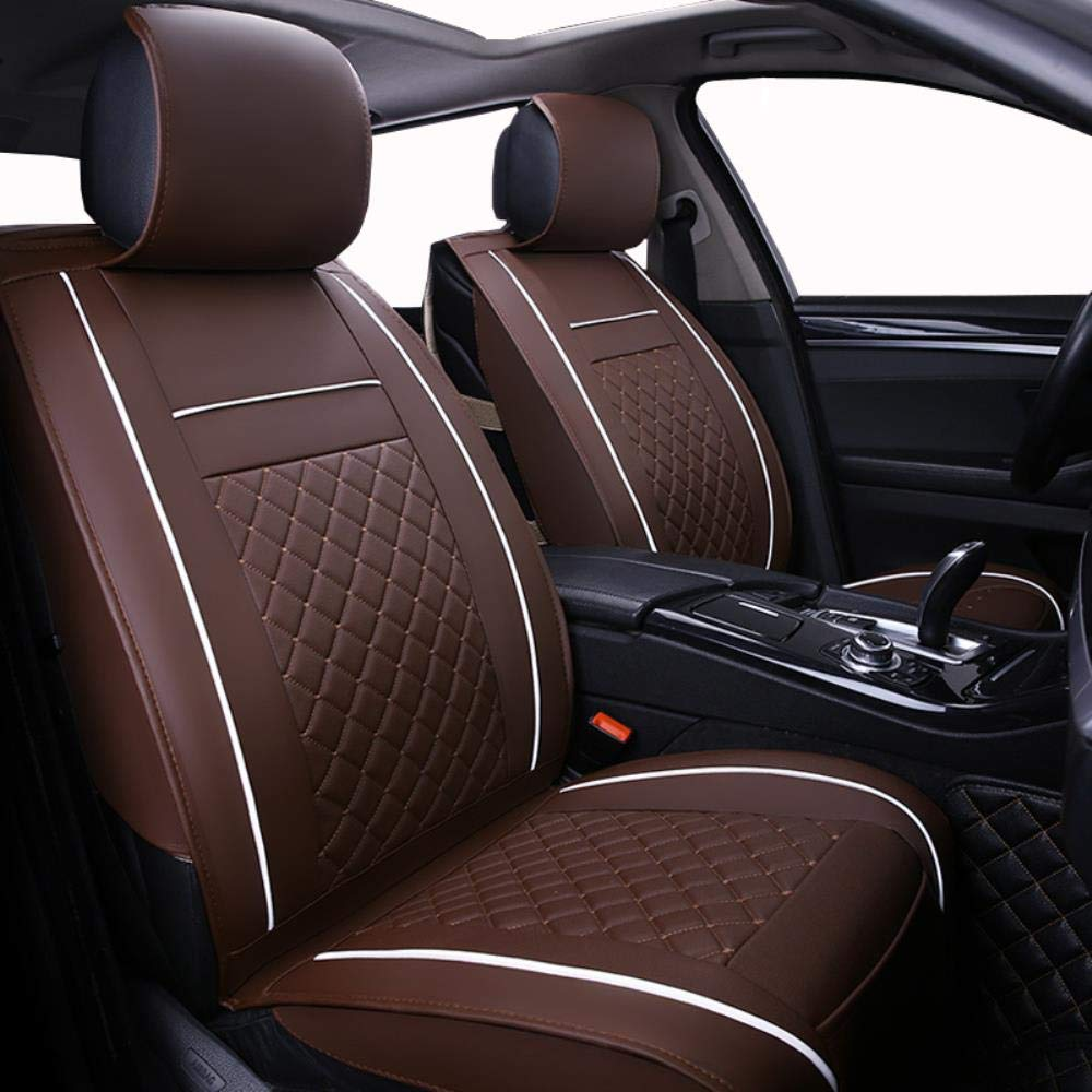 Luolong Car Seat Cover Seat Cushion Only Front Leather Universal Car Seat Cover For Bmw E30 E34 E36 E39 E46 E60 E90 F10 F30 X3 X5 X6 X1 2 3 4 5 6 Car Accessories Amazon Co Uk Car