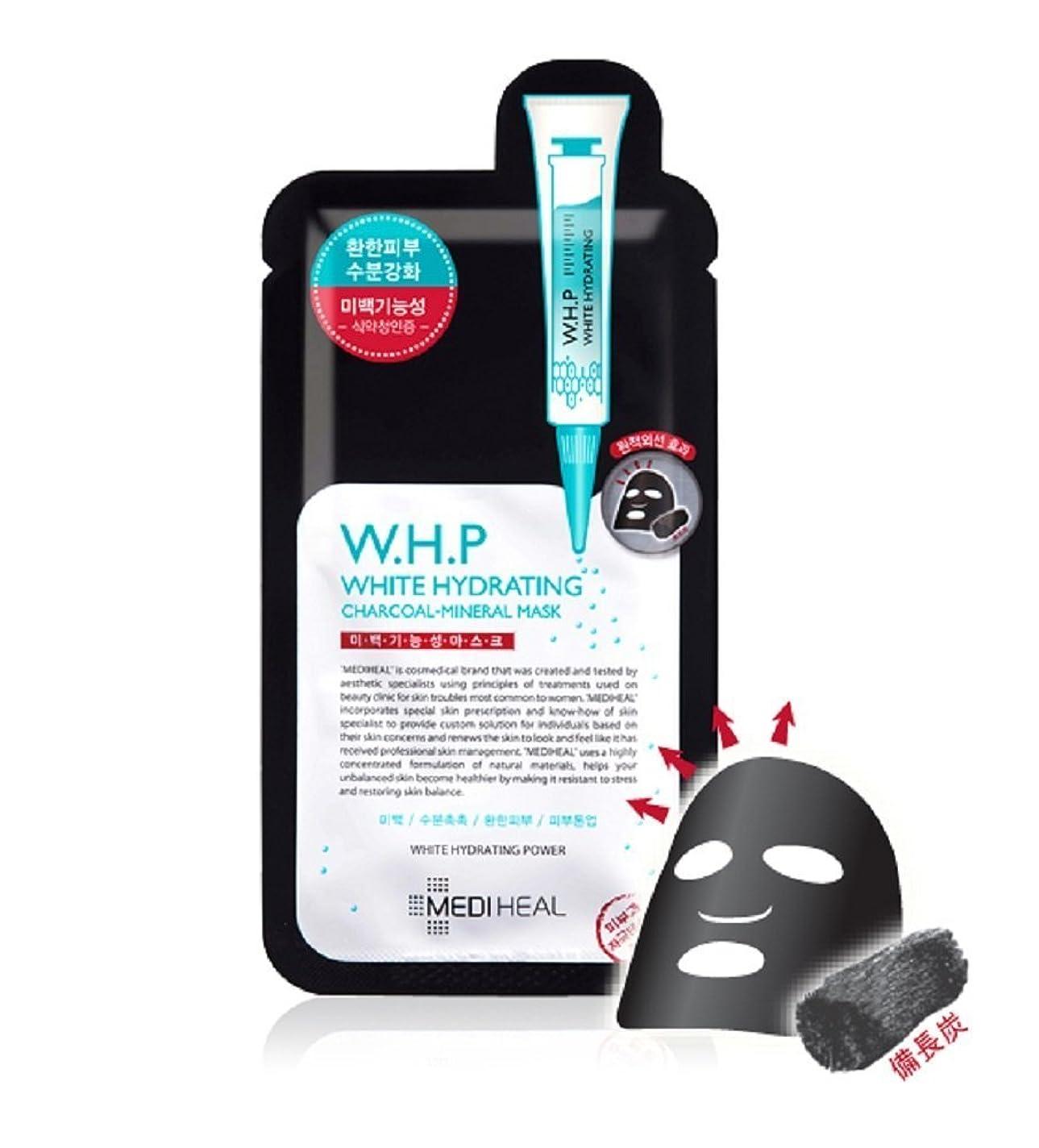 雹診断するプレミアメディヒール(Mediheal) W.H.P 美白水分 ミネラル 炭 マスクパック (10枚) [海外直送品][並行輸入品]