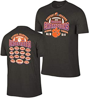 Clemson Tigers National Champs Tshirt 2018-2019 Charcoal Perfect Season