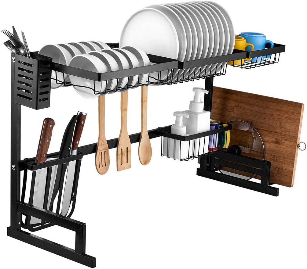 Fresno Mall i New life BKGOO Dish Drying Sink Rack 2 Tier Kitchen Drainer for Shelf
