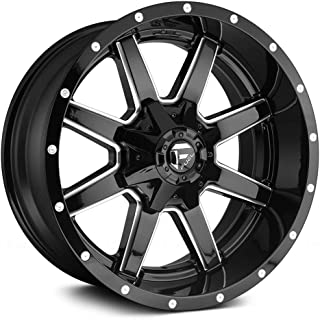 FUEL Maverick NBL-Gloss BLK MIL Wheel with Painted (22 x 12. inches /8 x 180 mm, -44 mm Offset)