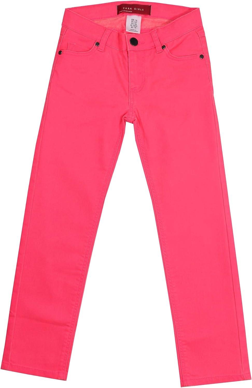 Ex Zara Girls Twill Stretchy Kids High Waist Skinny Jeans Pant Trouser Green 2-10 Y