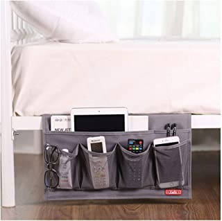 Zafit 6 Pockets Bedside Storage Organizer, Table cabinet Storage Organizer Bedside Organizer Caddy for Remotes Phone Glasses (Grey)