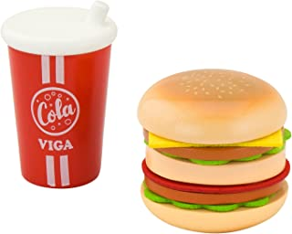 VIGA Hamburger w/Cola Play Set