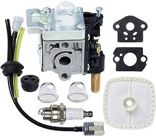 HOODELL SRM-210 GT-200R Carburetor Kit for Echo SRM-230 HC-150 PE-200 PPF-210 PAS-230 Carb Rebuild, with Spark Plug Primer Bulb Air Filter for Weed Eater, String Hedge Trimmer, Edger