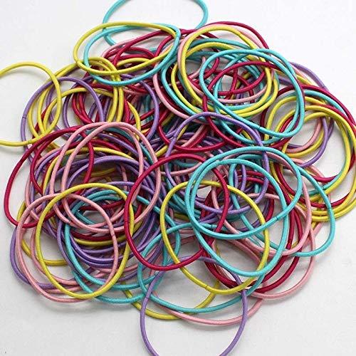 50pcs / lot 5CM Accessoires cheveux femmes Elastiques Scrunchy Bandeaux élastiques filles Bandeau Décorations Ties Gum for les cheveux (Color : Dark Brown, Size : 50PCS)