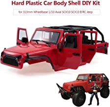 Leslaur Hard Plastic Car Body Shell for 313mm Wheelbase 1/10 Axial SCX10 SCX10 II Chassis RC Jeep Truck Car DIY