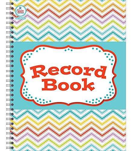 """Carson Dellosa Chevron Teacher Record Book - 38 Student Class Record Book for Grades, Attendance, and Progress Reports, Behavioral Log for School (8.5"""" x 11"""")"""