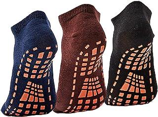 Sticky Grips Socks For Men Tile/Wood Floors Non Skid Slip Yoga Pilates Socks