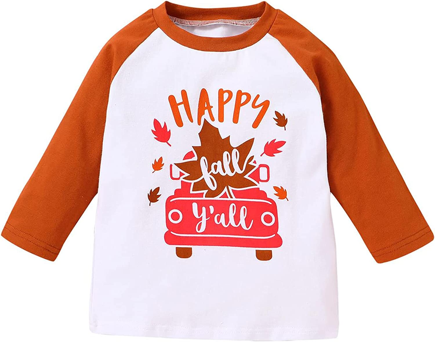 Toddler Baby Boy Fall Clothes Pumpkin Truck Onesie and Shirts Boys Halloween Clothes
