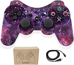 Kolopc Wireless Controller Gamepad Remote for PS3 Playstation 3 Double Shock - Bundled with USB Charge Cord (Starry Sky 1)