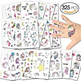DYFFLE Einhorn Kinder Tattoos, Tattoo Kinder Set – 25 Sheet Kinder Temporäre Tattoos Aufkleber...