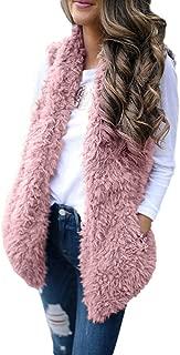 Outwear Vest Women Hoodie Waistcoat Sherpa Jacket Faux Fur Coat Casual