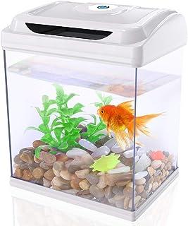 DADYPET 水槽セット アクアリウム 魚飼育セット メダカ 熱帯魚 小型水族館 ライト付き 省エネ 静音