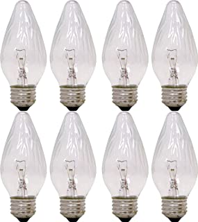 GE Auradescent 75340 25-Watt, 120-Lumen Flame Tip Light Bulb with Medium Base, 8-Pack (Renewed)