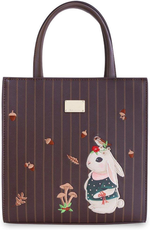 Eeayyygch Weibliche Weibliche Weibliche Tasche Xiekua Paket weibliche Stickerei Handtasche schöne weibliche College Windsack Tasche, Kaninchen nach Hause (Farbe   Rabbit Home) B07JWFVW1S 7167a1