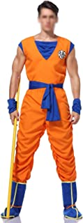 CHENJUNAMZ Dragon Ball Z Goku Traje Traje de Traje de Cosplay para niños Adultos niña niño niño Peluca Ropa Conjunto de Lu...