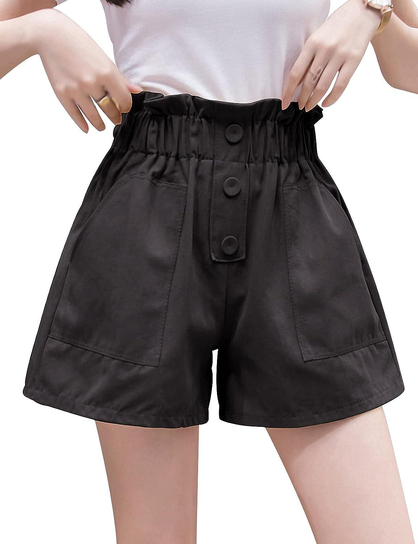 Arssm Women's Summer Casual High security Popular Bag Paper Shorts Waisted
