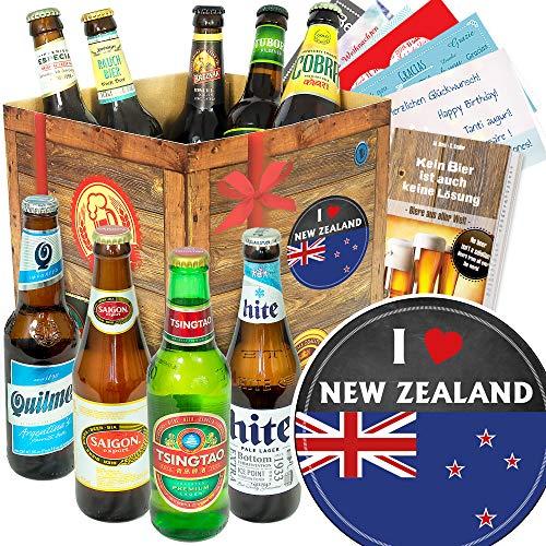 I love New Zealand - Bier aus aller Welt - Geschenke Neuseeland