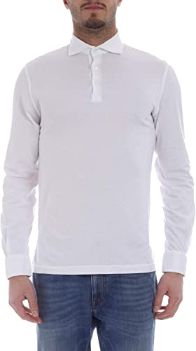 FEDELI Homme 2UED021741 Blanc Coton Polo