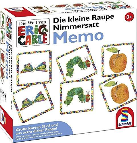 Schmidt Games 40455 The Kleine rupsje Nooitgenoeg, Memo en Legesp, kleurrijk