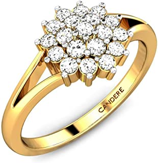 Candere By Kalyan Jewellers 18KT Yellow Gold and Diamond Ring for Women