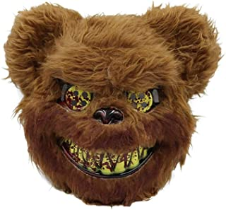 Halloween Mask Bloody Killer Rabbit Mask Teddy Bear Halloween Plush Cosplay Horror Mask For Kids Adults Wild Wolf Scary